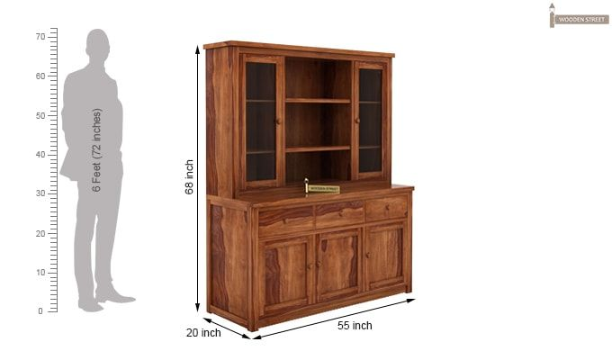 Galla Kitchen Cabinet (Teak Finish)-7