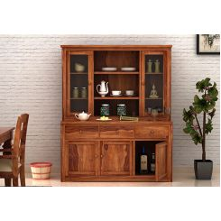 Galla Kitchen Cabinet (Teak Finish)