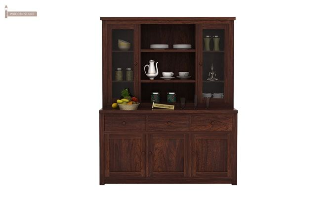 Galla Kitchen Cabinet (Walnut Finish)-1