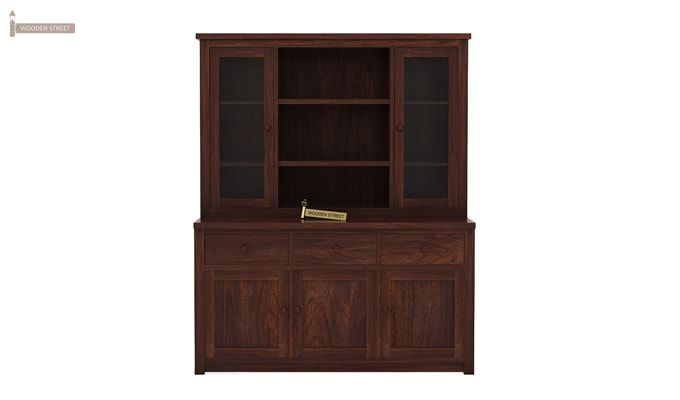 Galla Kitchen Cabinet (Walnut Finish)-3