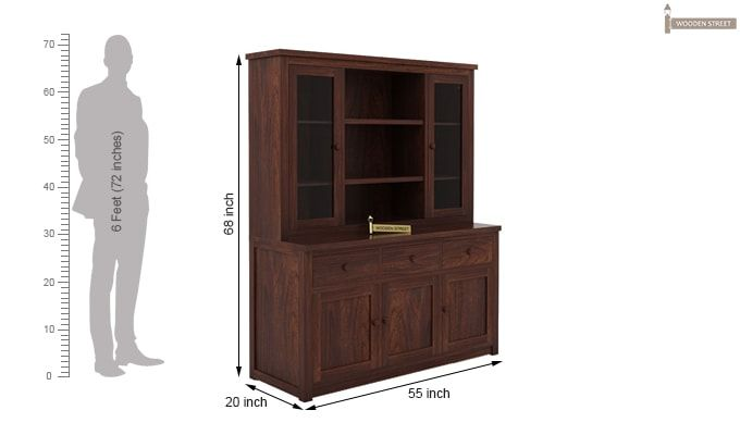 Galla Kitchen Cabinet (Walnut Finish)-6