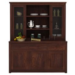 Galla Kitchen Cabinet (Walnut Finish)