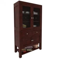 Maglory Kitchen Cabinet (Mahogany Finish)