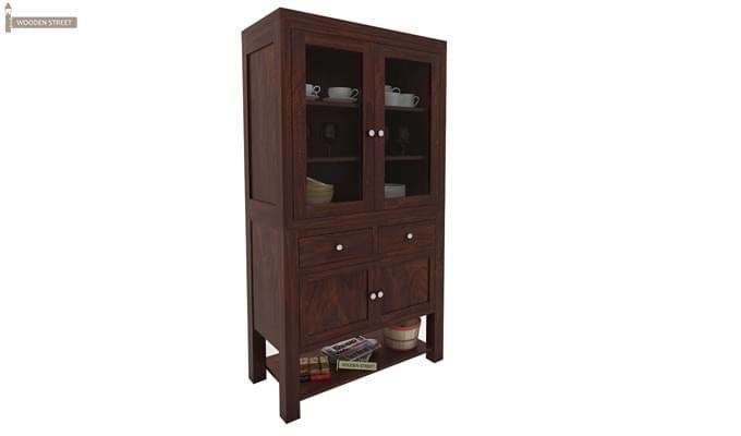 Maglory Kitchen Cabinet (Walnut Finish)-2