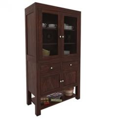 Maglory Kitchen Cabinet (Walnut Finish)