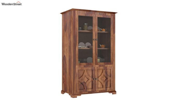 Martin Double Door Crockery Unit (Teak Finish)-2