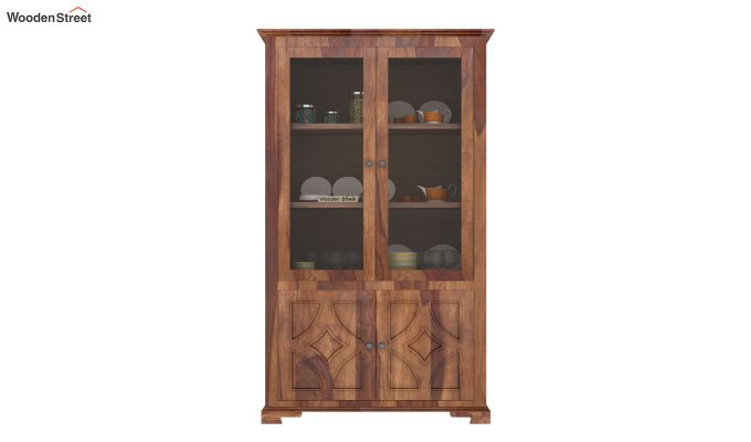 Martin Double Door Crockery Unit (Teak Finish)-3