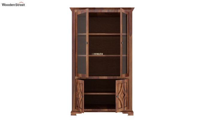 Martin Double Door Crockery Unit (Teak Finish)-5