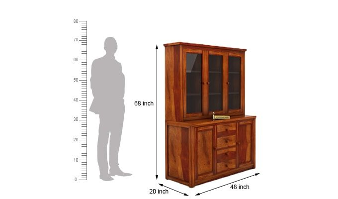 Monarch Kitchen Cabinet (Honey Finish)-7