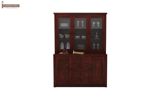 Monarch Kitchen Cabinet (Mahogany Finish)-1
