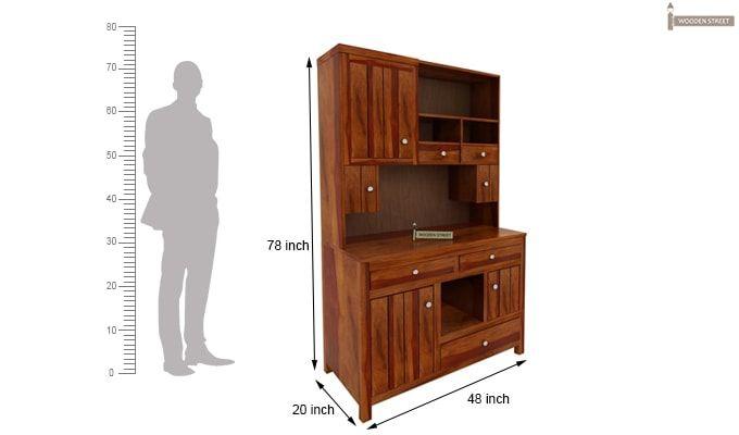 Crestor Kitchen Cabinet (Honey Finish)-8