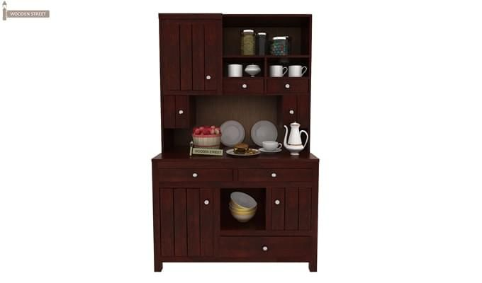 Crestor Kitchen Cabinet (Mahogany Finish)-1