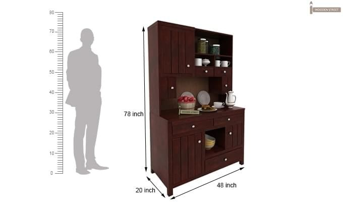 Crestor Kitchen Cabinet (Mahogany Finish)-3