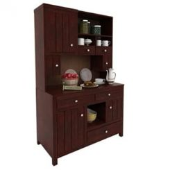 Crestor Kitchen Cabinet (Mahogany Finish)