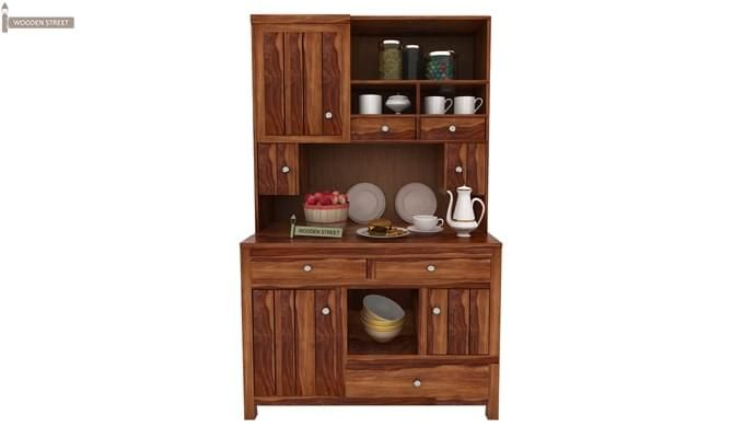 Crestor Kitchen Cabinet (Teak Finish)-1