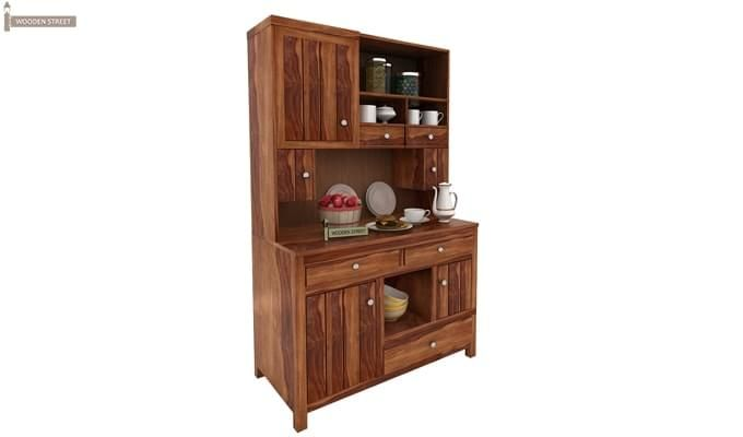 Crestor Kitchen Cabinet (Teak Finish)-2