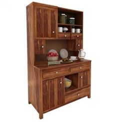 Crestor Kitchen Cabinet (Teak Finish)