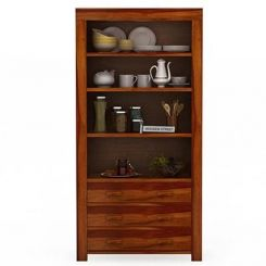 Williams Kitchen Cabinet (Honey Finish)