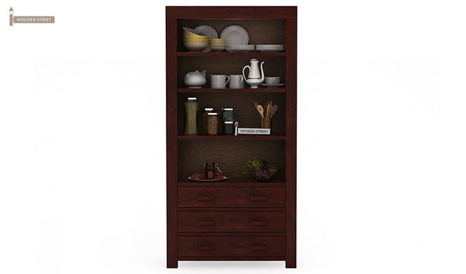 Williams Kitchen Cabinet (Mahogany Finish)-3