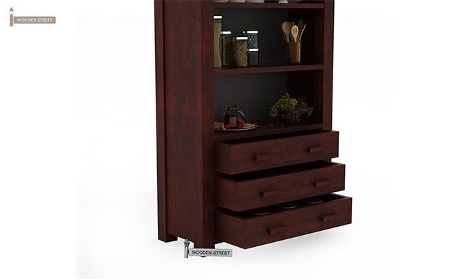 Williams Kitchen Cabinet (Mahogany Finish)-5