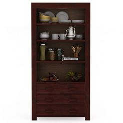 Williams Kitchen Cabinet (Mahogany Finish)
