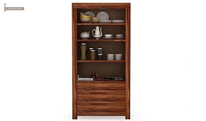 Williams Kitchen Cabinet (Teak Finish)-2