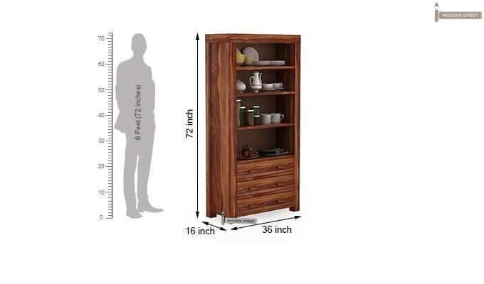 Williams Kitchen Cabinet (Teak Finish)-3