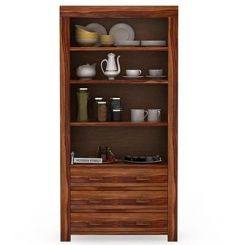 Williams Kitchen Cabinet (Teak Finish)