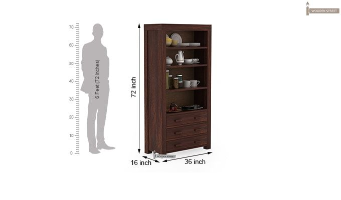 Williams Kitchen Cabinet (Walnut Finish)-4
