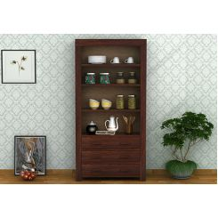 Williams Kitchen Cabinet (Walnut Finish)