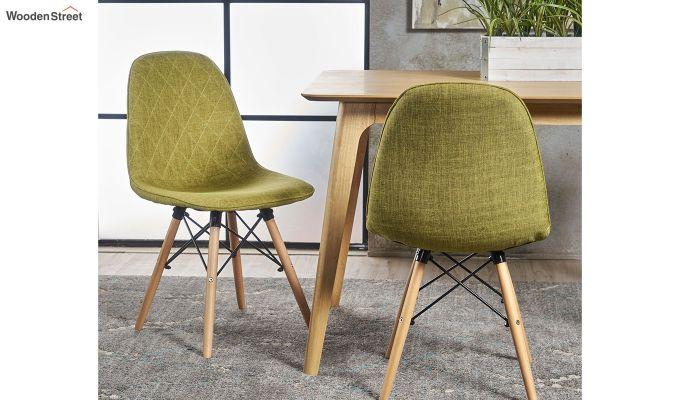 Callay Mid Century Modern Fabric Eiffel Iconic Chair (Green)-1