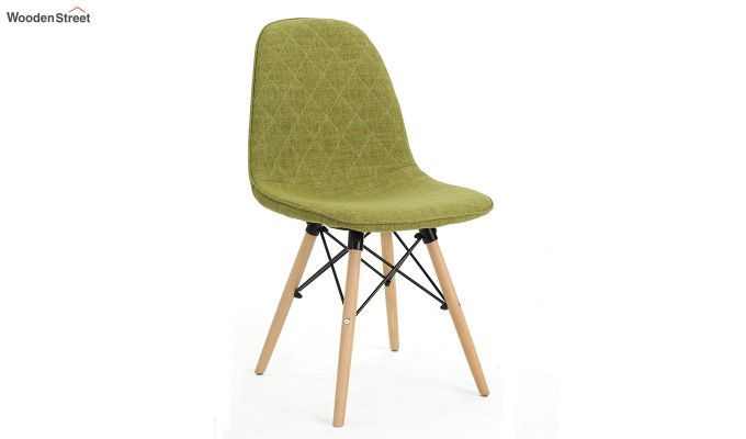 Callay Mid Century Modern Fabric Eiffel Iconic Chair (Green)-2