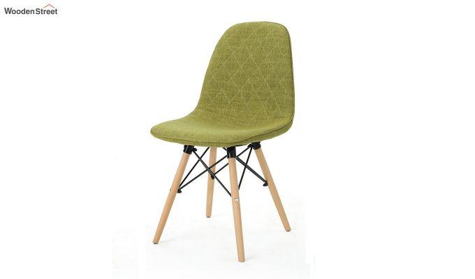 Callay Mid Century Modern Fabric Eiffel Iconic Chair (Green)-3