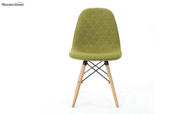 Callay Mid Century Modern Fabric Eiffel Iconic Chair (Green)-4