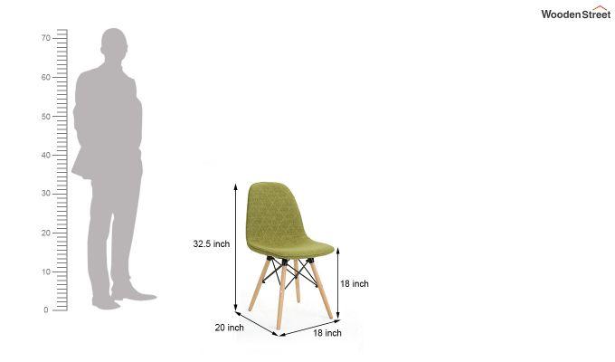 Callay Mid Century Modern Fabric Eiffel Iconic Chair (Green)-7
