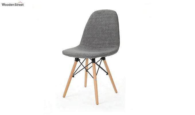 Callay Mid Century Modern Fabric Eiffel Iconic Chair (Grey)-3