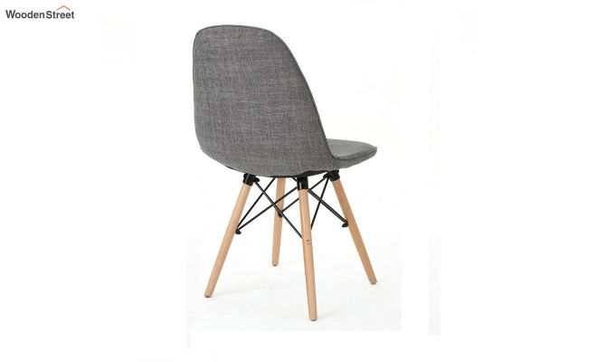 Callay Mid Century Modern Fabric Eiffel Iconic Chair (Grey)-4