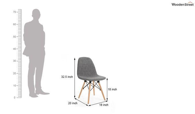 Callay Mid Century Modern Fabric Eiffel Iconic Chair (Grey)-5