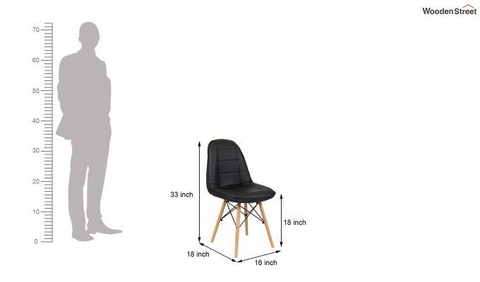 Eames Replica Cushioned Verdi Iconic Chair (Black)-4