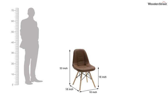 Eames Replica Cushioned Verdi Iconic Chair (Brown)-6