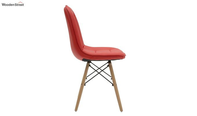 Eames Replica Cushioned Verdi Iconic Chair (Red)-3