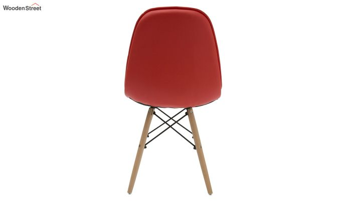 Eames Replica Cushioned Verdi Iconic Chair (Red)-4