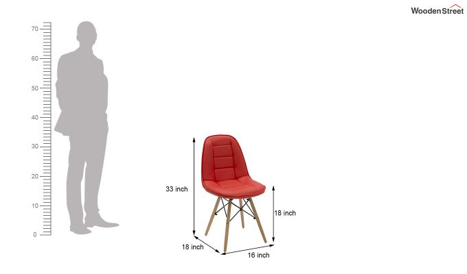 Eames Replica Cushioned Verdi Iconic Chair (Red)-6
