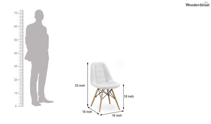 Eames Replica Cushioned Verdi Iconic Chair (White)-7