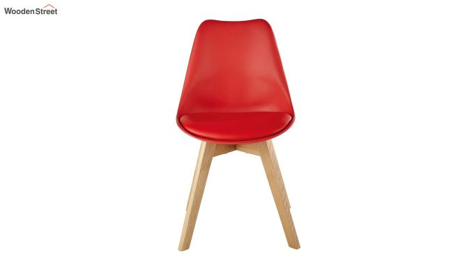 Eames Replica Solid Wood Legs Iconic Chair (Red)-2