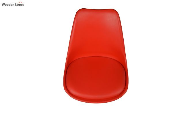 Eames Replica Solid Wood Legs Iconic Chair (Red)-4