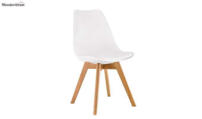 Eames Replica Solid Wood Legs Iconic Chair (White)-2