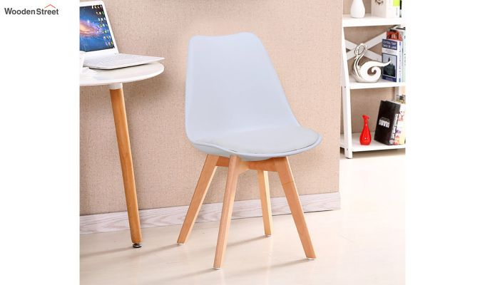 Eames Replica Solid Wood Legs Iconic Chair (White)-1