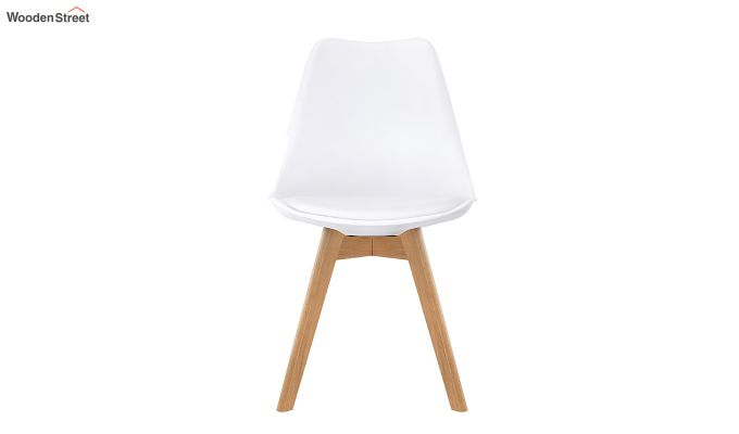 Eames Replica Solid Wood Legs Iconic Chair (White)-3