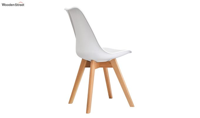 Eames Replica Solid Wood Legs Iconic Chair (White)-4